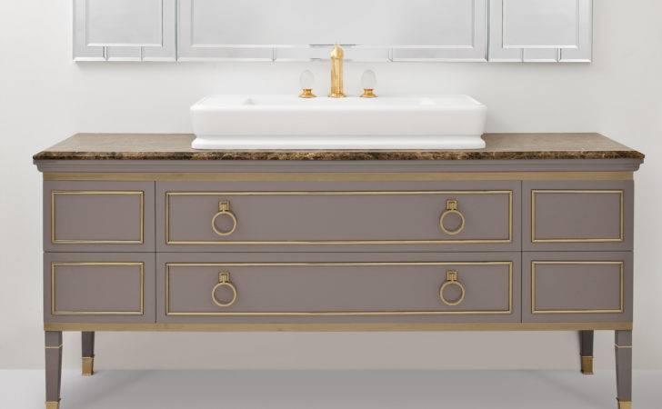Lutetia Luxury Italian Bathroom Vanity Grey Lacquered Wood
