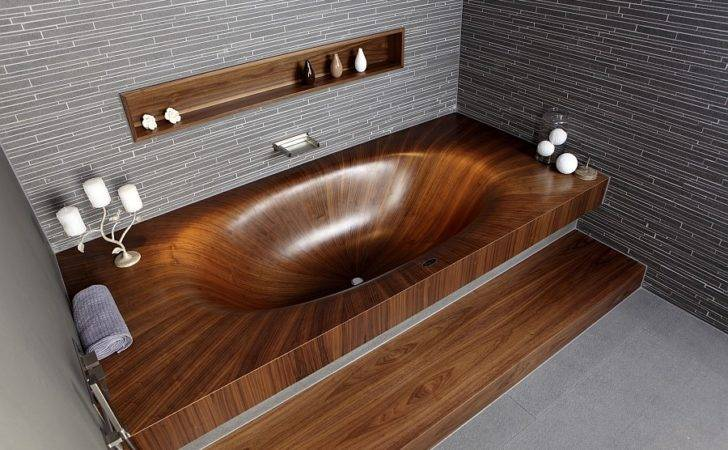 Luxurious Dramatic Wooden Bathtubs Make Bold Visual Statement