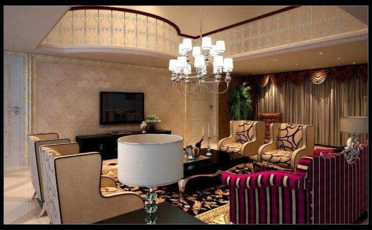 Luxurious Living Room Fancy Furniture Model Max Cgtrader