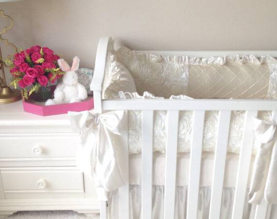Luxury Baby Girl Crib Sets Ivory Cribs Over Top
