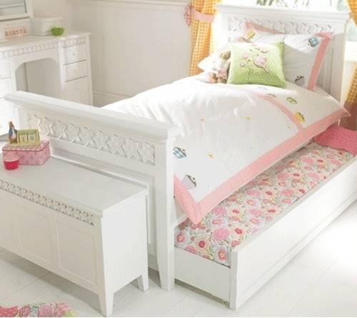 Luxury Children White Painted Bed