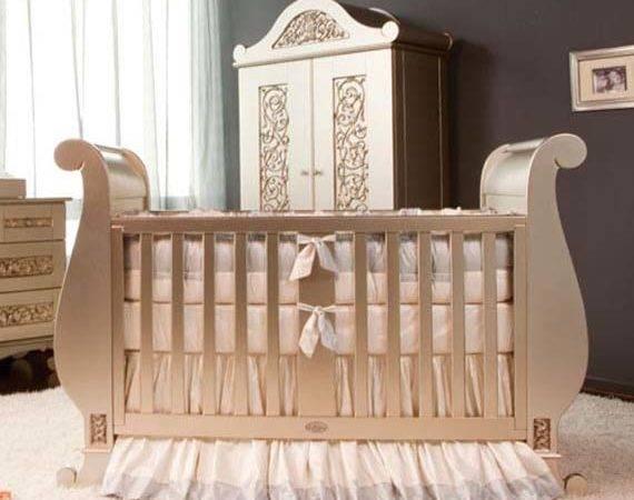 Luxury Classic Sleigh Crib Design Baby Furniture Ideas Antique