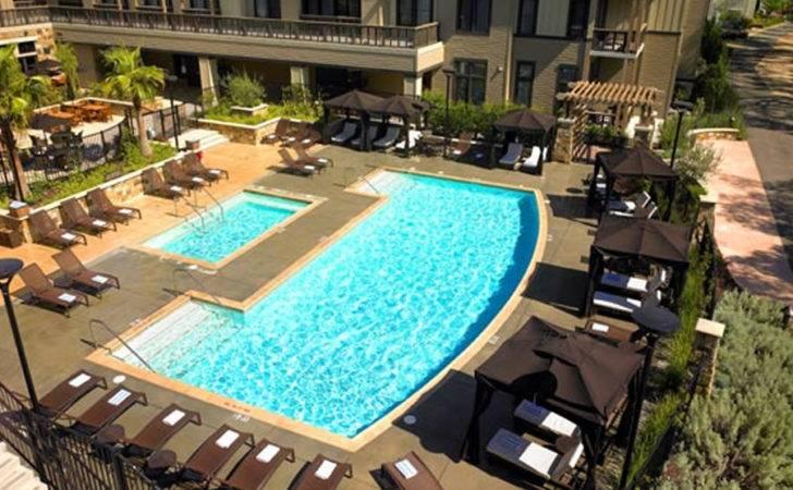 Luxury Elegant Pool Design Westin Verasa Napa Hotel California