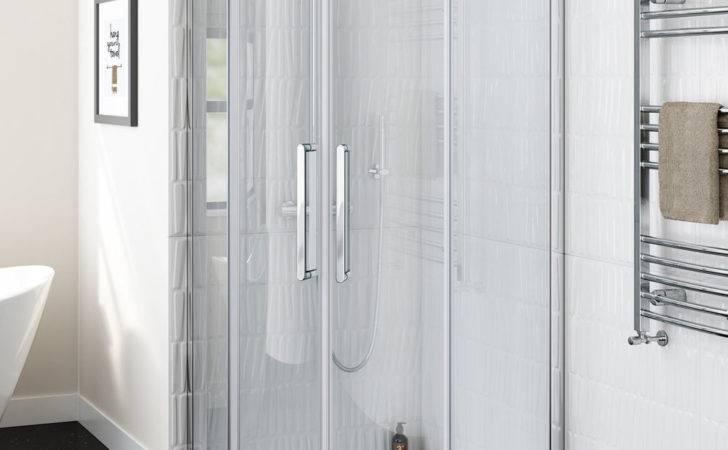 Luxury Frameless Walk Easy Clean Quadrant Shower