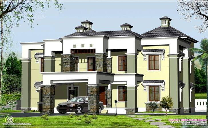 Luxury House Elevation Feet Kerala Home Design Floor