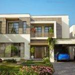 Luxury House Lahore Design Wing Front Elevation Pakistan
