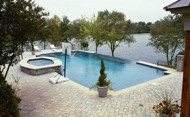 Luxury Inground Swimming Pool Waterfalls Custom Design Ideas