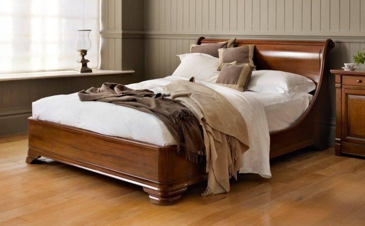 Luxury Manoir Socle Wooden Sleigh Bed
