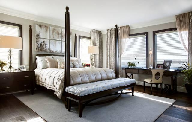 Luxury Master Bedroom Robeson Design Transitional San