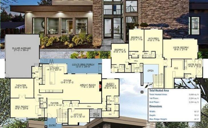 Luxury Modern House Plans Supreme Courtyard Plan Custom