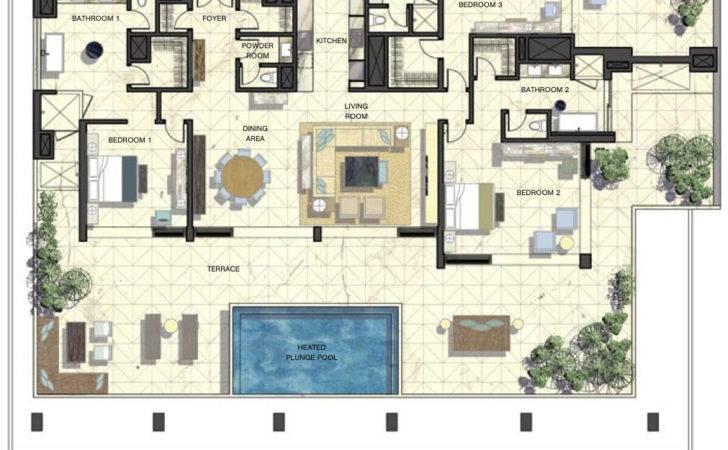 Luxury Penthouse Floor Plans Beachfront