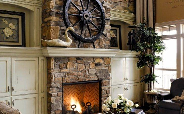 Luxury Rustic Fireplace Covered Stones Better Decorating Bible Blog