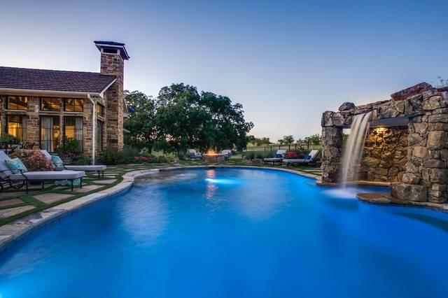 Luxury Swimming Pool Grotto Fire Pit Dallas Rustic