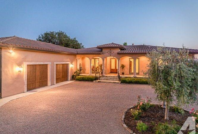 Luxury Tuscan Style Home Guest House Sale Paso Robles