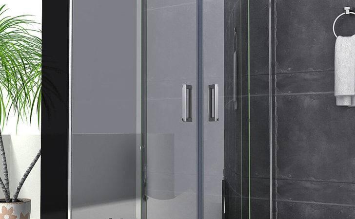 Luxury Walk Quadrant Shower Enclosure Sliding Glass Door
