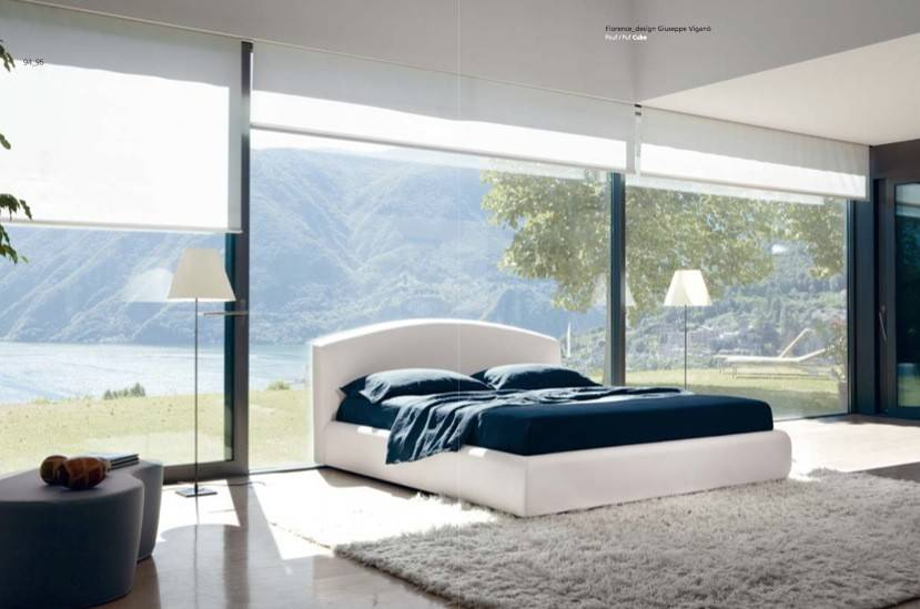 Luxury White Blue Bedroom Interior Design Ideas