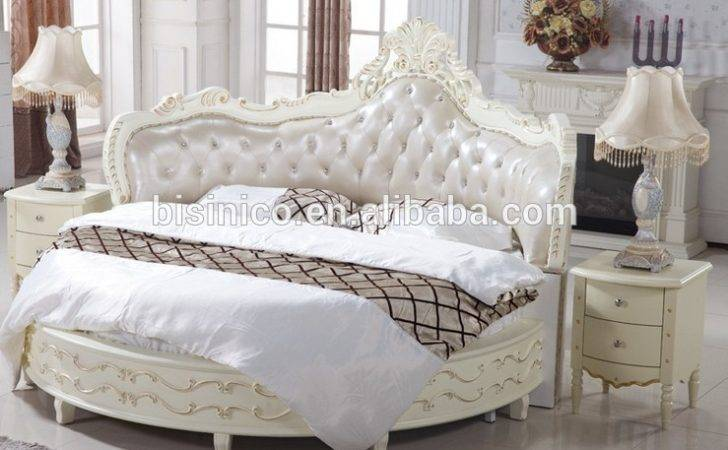 Luxury Wooden Round Bed Wood Double White Buy