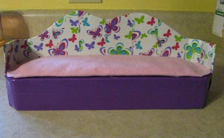 Made Couch Out Cardboard Duct Tape Cushion Old