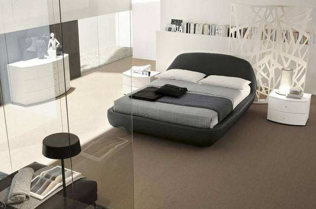 Made Italy Leather High End Bedroom Furniture Modern Beds