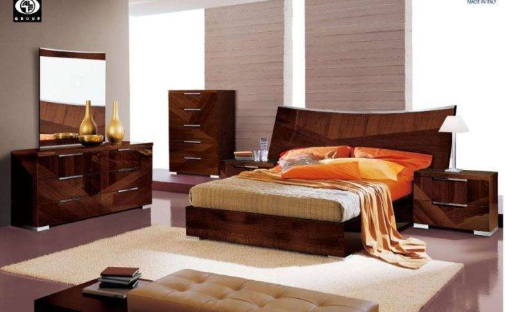 Made Italy Wood High End Contemporary Furniture Brown Lacquer