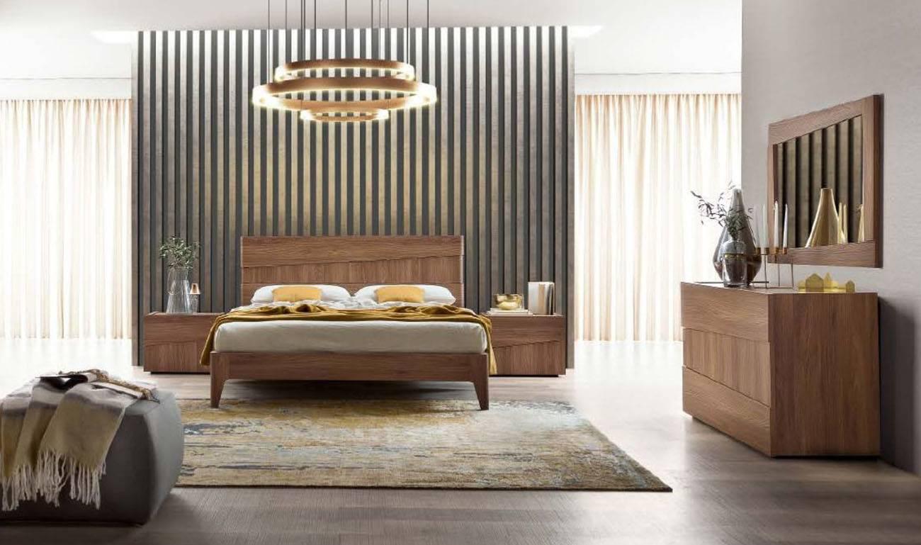 Made Italy Wood Platform Bedroom Furniture Sets