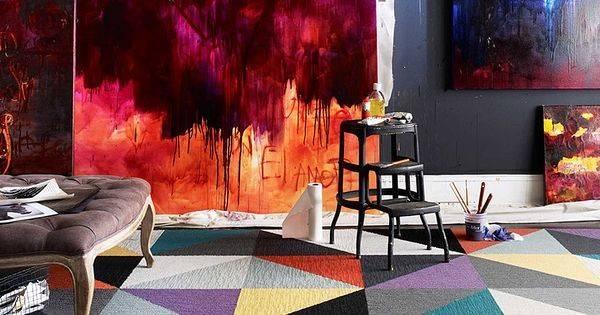Made Look Triangle Patchwork Rug Tile Set Flor Art