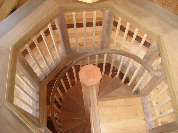 Made Stairway Octagonal Landing Albion Cabinets Stairs