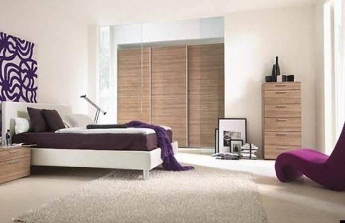 Magnificent Purple Bedroom Decor Modern