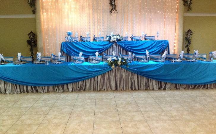 Main Tables Turquoise Silver Quinceanera Villa Tuscana