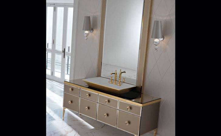 Majestic Bronze Lacquered Glass High End Italian Bathroom Vanities