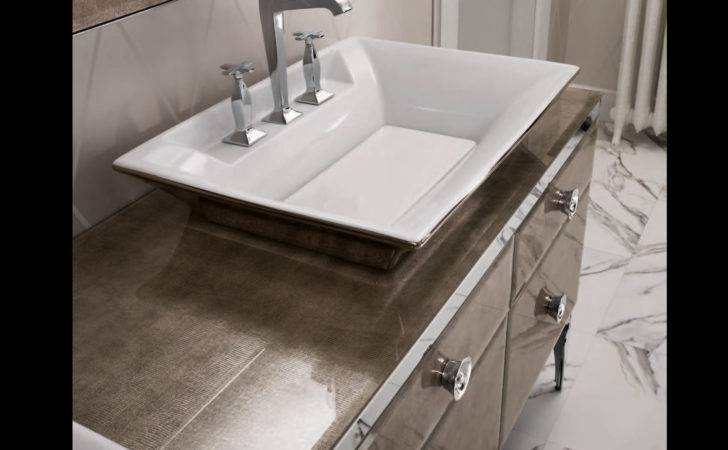 Majestic Gold Aligator Glass High End Italian Bathroom Vanities