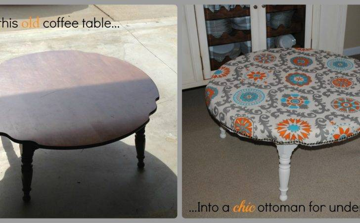Make Chic Diy Ottoman Your Old Coffee Table Bringing New Life