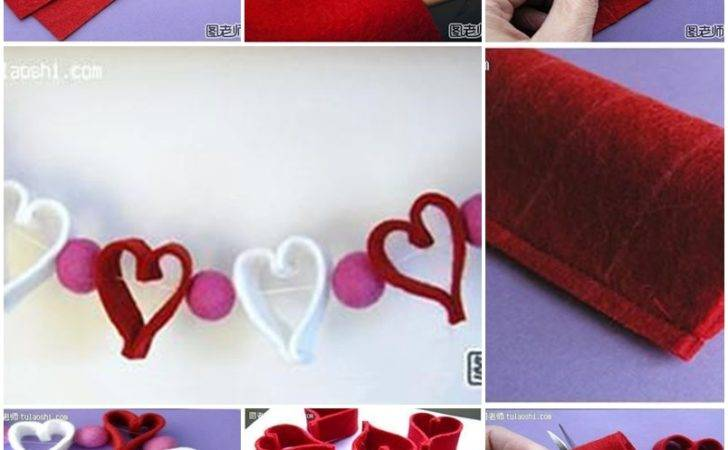 Make Cute Heart Decoration String Step Diy Instrutions
