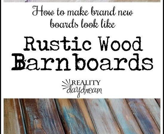 Make Distressed Wood Barn Boards New