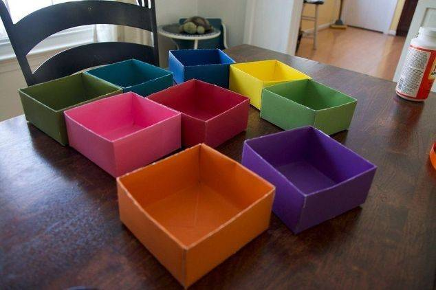 Make Drawer Organizer Scrapbook Paper Crafts