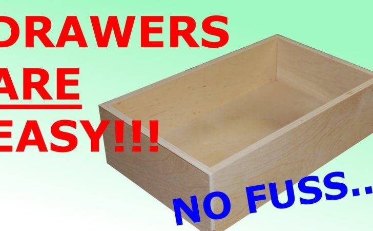 Make Easy Simple Drawers Youtube
