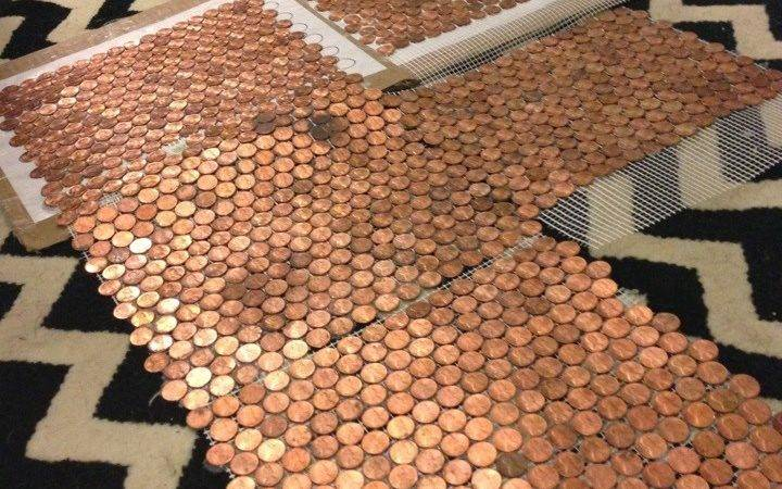 Make Floor Out Real Pennies Penny Template