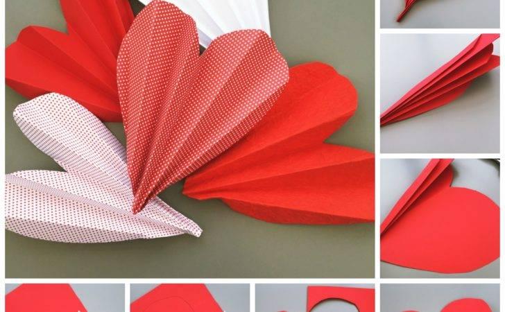 Make Love Heart Fans Fan Making Tutorial Easy Valentines Kids