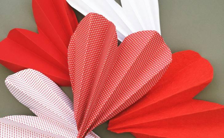 Make Love Heart Fans Valentine Craft Kids