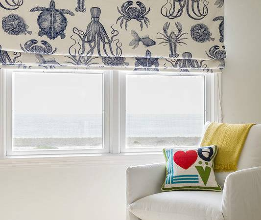 Make Nautical Coastal Roman Shades Completely