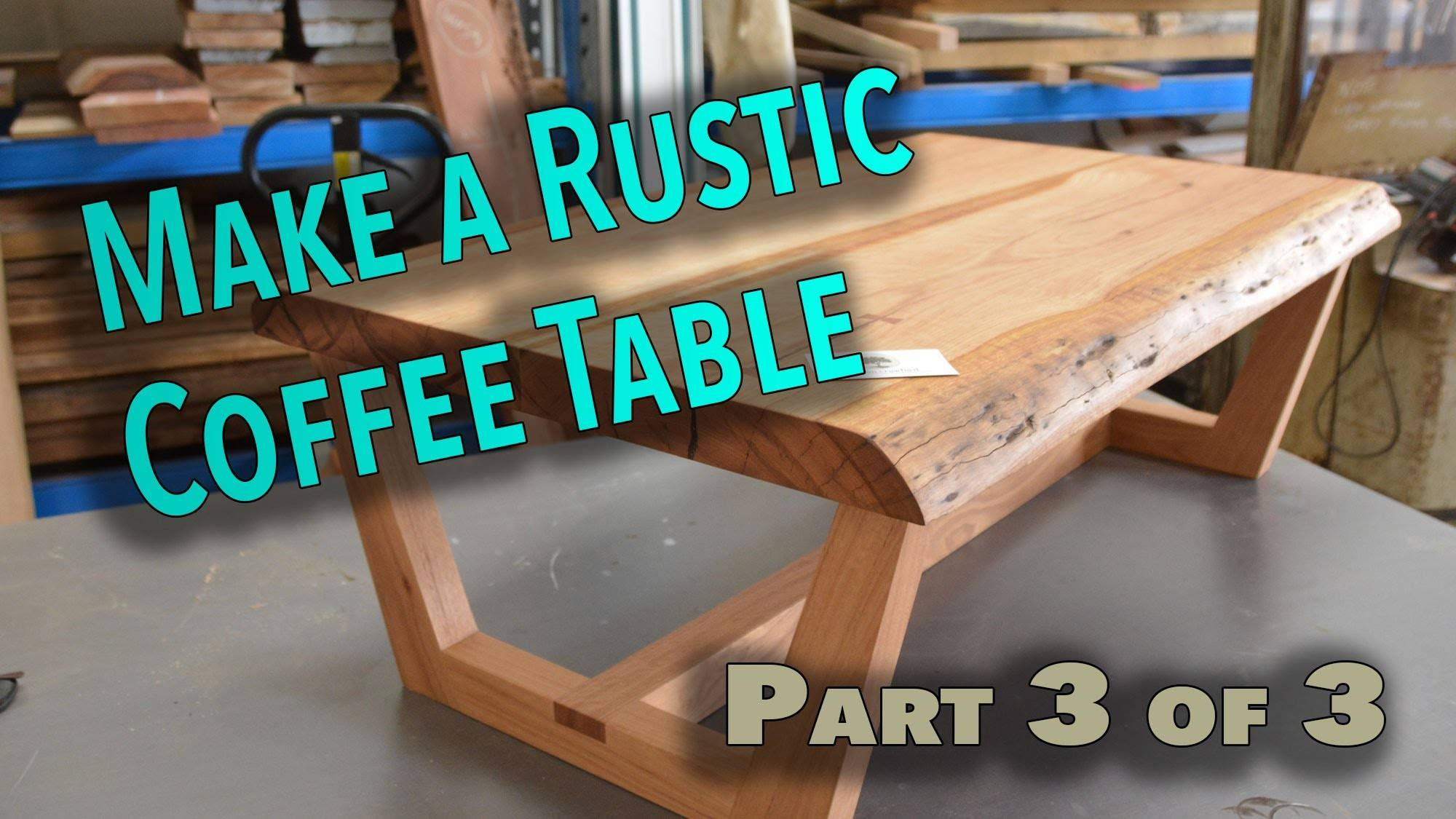 Make Rustic Live Edge Coffee Table Part Bowties