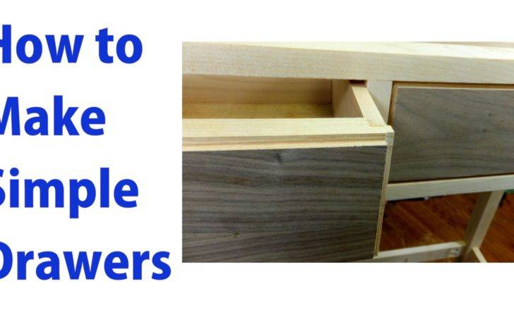 Make Simple Wooden Drawers Woodworkweb Youtube