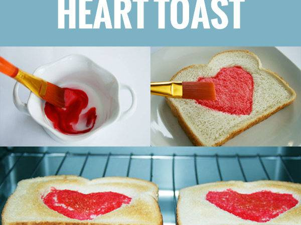 Make Your Own Heart Toast