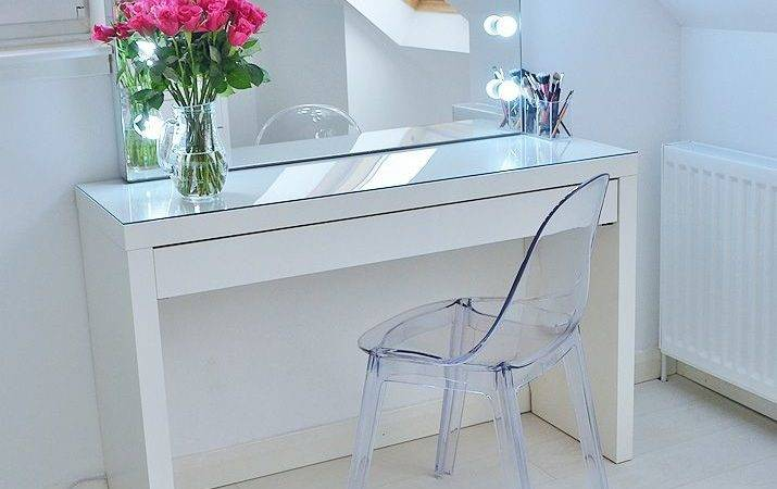 Makeup Storage Ideas Ikea Malm Vanity Mirror Home