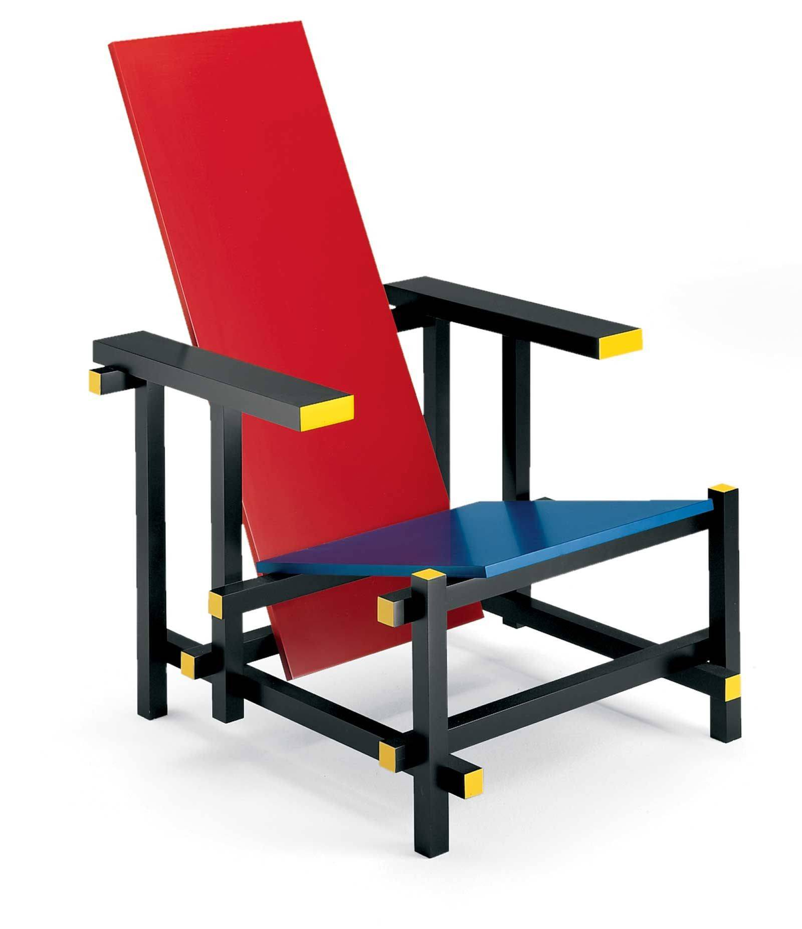 Malik Collection Gerrit Thomas Rietveld Red Blue Chair