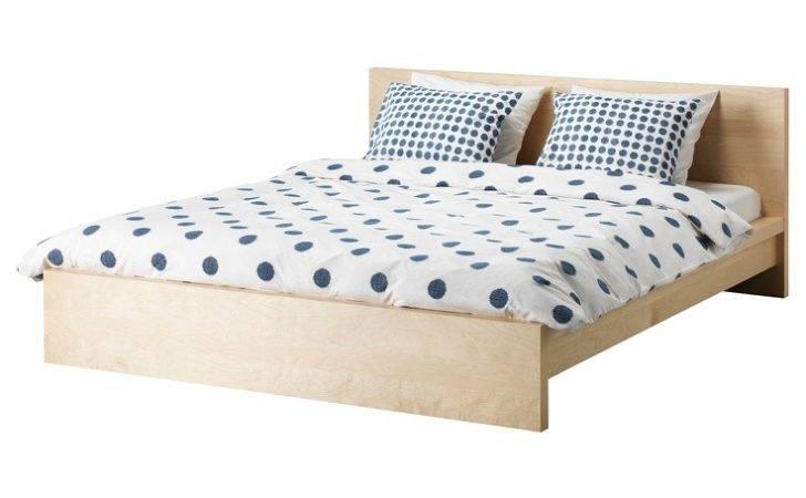 Malm Bed Frame Birch Veneer Queen Ikea Exact