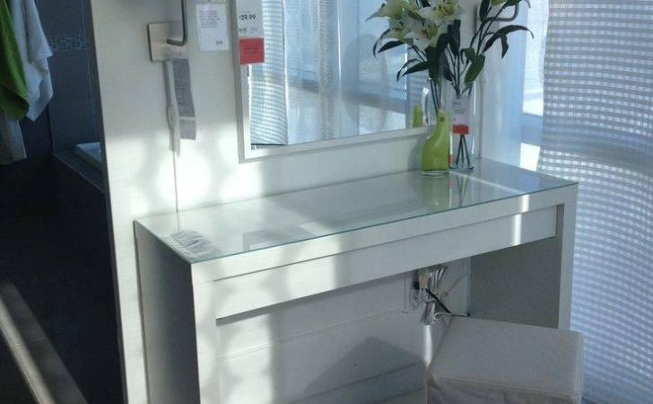 Malm Vanity Table Ikea Makeup Ideas Pinterest Lighted
