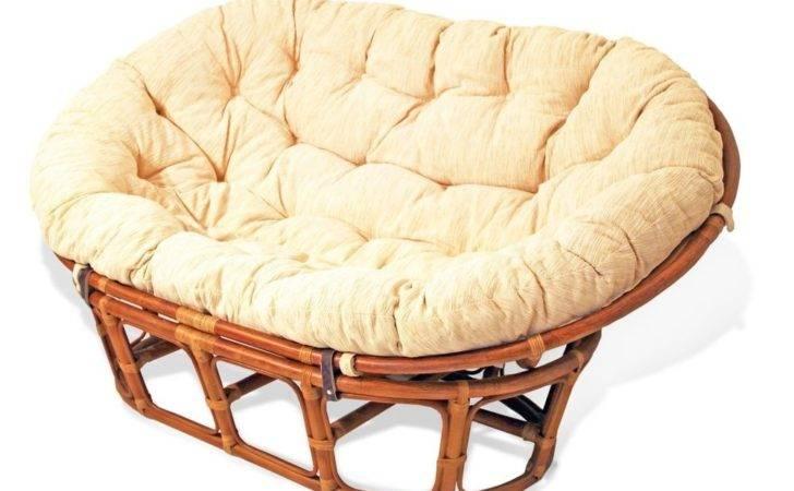 Mamasan Rattan Wicker Sofa Cushion Double Papasan Loveseat Local