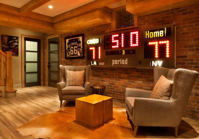 Man Cave Home Design Basement Ideas Sports
