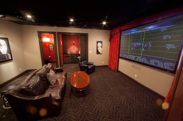 Man Cave Home Theater Dallas Texas Wood Mill Cabinets Inc
